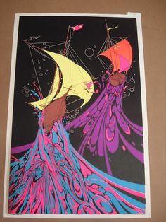 neptune's fury black light poster