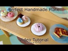 How to Make Polymer Clay Plates Tutorial without molds - YouTube