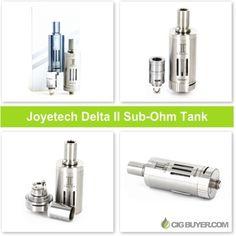 Joyetech Delta II Sub-Ohm Tank – $31.49: http://www.cigbuyer.com/joyetech-delta-2-sub-ohm-tank-deal/ #ecig #vaping #subohm #rta #vapedeals