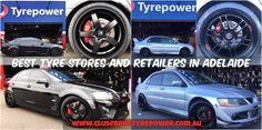 Tyre Stores and Retailers in Adelaide - 1. Ford Mustang GT fitted with 20 inch Staggered Highland Bronze Koya SF11, 2. Mitsubishi Lancer EVO8 fitted with 18x9.5 +15 Matte Black Enkei RFP1