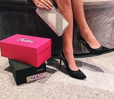 Supporting the FFANY Shoes 4 A Cure in the Ryoko Pump and Halyn Clutch! Nina Shoes, Party Shoes, Pumps, Heels, Cure, Black, Heel, Black People, Pumps Heels