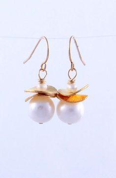 Olga King pearl earrings