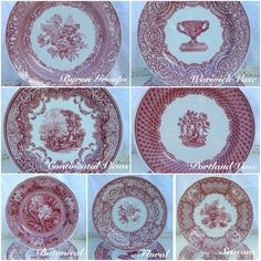 Vintage Cranberry Spode assorted set of 12 by PucaByElphiena