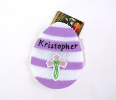 Easter gift personalized easter egg ornament gift card holder egg easter egg ornament gift card holder personalized felt egg ornament easter gift easter decor chocolate bunny white rabbit chick cross negle Images