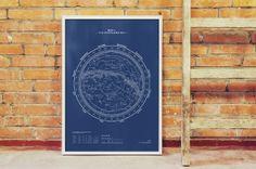 Huckberry | Huckberry Holiday Picks | Northern Sky Map Print