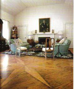 Interesting floor pattern in the wood.