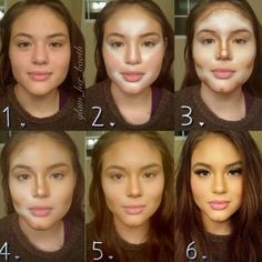 Guide on Makeup Contouring - - Guide on Makeup Contouring Beauty Makeup Hacks Ideas Wedding Makeup Looks for Women Makeup Tips Prom Mak. Power Of Makeup, Beauty Makeup, Eye Makeup, Hair Makeup, Hair Beauty, Prom Makeup, Makeup Blush, Alien Makeup, Makeup 2018
