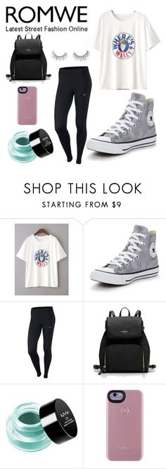 """Untitled #606"" by sheafleming195 ❤ liked on Polyvore featuring Converse, NIKE, NYX and Unicorn Lashes"