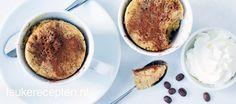 Lekker op de zondagmorgen of als dessert: luchtig cakeje uit de magnetron met koffiesmaak