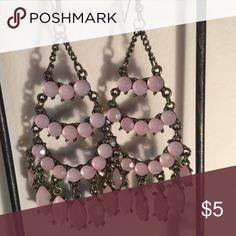 Pink stone chandelier earrings Pink stone chandelier earrings Jewelry Earrings