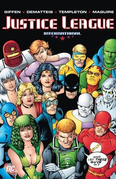 Justice League International Vol. 4 cover by Kevin Maguire