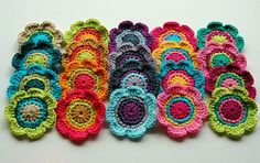Crochet Flower Motifs by AnnieDesign, via Flickr