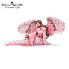 Thomas Kinkade Majestic Rose Angel Figurine