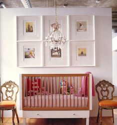 Nursery chic baby room I like the frames! Nursery Crib, Girl Nursery, Nursery Decor, Nursery Frames, Nursery Ideas, Chic Nursery, Vintage Nursery, Crib Wall, French Nursery