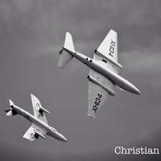 Hawker Hunter & English Electric Canberra formation flight