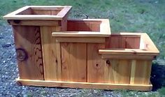tacoma puyallup cedar stair-step planter