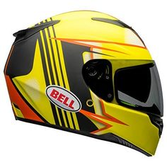 Bell RS2 Full-Face Motorcycle Helmet (Swift Matte Hi-Viz/Orange/Black, XX-Large) Helmet shown with optional tinted shield. Ships with clear shield only FIBERGLASS COMPOSITE SHELL-Lightweight construction THREE SHELL and EPS DESIGN - Small overall size, Personalized fit and Lightweight DROP DOWN INNER SHIELD-Direct drive lever offers a solid and firm feel, EYEWEAR COMPATIBLE-Eyewear arm pockets woven into the interior liner
