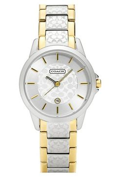 COACH 'Classic Signature' Bracelet Watch, 32mm available at #Nordstrom