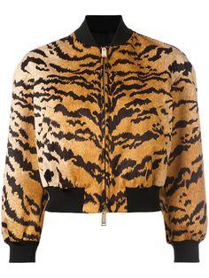 Shop Dsquared2 tiger print bomber jacket.