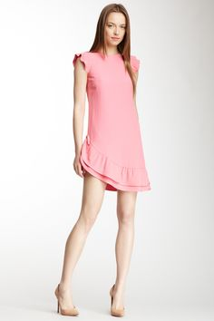 RED Valentino Asymmetrical Flutter Sleeve Dress on HauteLook