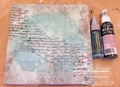 A mixed media canvas...tutorial