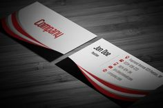 Free modern red business card design with abstract 3d effects the latest business cards which are available in free photoshop business card templates found throughout 2015 and 2016 will amaze you accmission Image collections