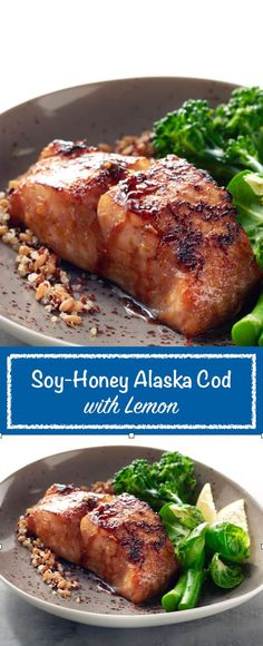 This Soy-Honey Alaska Cod with Sunkist Lemon recipe by Michelle Dudash is mild, flaky and family-friendly. The deep flavors of the soy sauce and sesame oil are highlighted by the fresh lemon and a touch of honey for sweetness. With only ten minutes of prep time and ten minutes to cook, dinner is done in a flash!