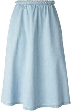 Valentino A line Denim Skirt SS-2014