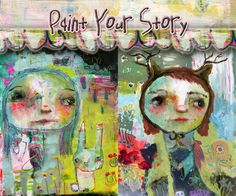Tim's Sally: Paint Your Story now available as a self-paced online class. come paint with me and not worry what the grown-ups think!