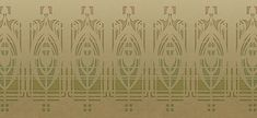 """NEW! """"Eau Claire"""" frieze at Bradbury & Bradbury -inspired by the work of Prairie School architects William Gray Purcell and George Elmslie. These friezes are done in the very soft muted tones that Purcell & Elmslie often specified for their stencil work. #bradburywallpaper"""