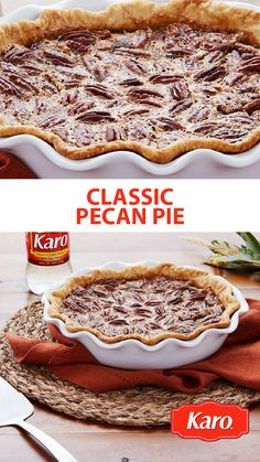 No Thanksgiving menu is complete without dessert and this Classic Pecan Pie is delicious and easy. Prep in only 5 minutes!