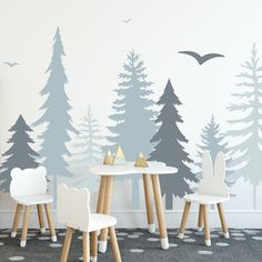 Woodland Nursery Decor: Ideas For A Woodsy Baby Room This post has woodland nursery decor ideas for the walls, bedding and accessories. Perfect for a girl, boy or gender neutral baby room. Baby Room Boy, Baby Girls, Floor Decal, Woodland Nursery Decor, Forest Nursery, Nursery Trees, Nursery Decals, Baby Room Wall Decals, Old Wall