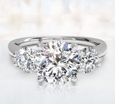 Three Stone Engagement Rings | Ritani. Wow