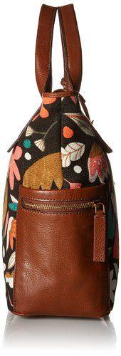 Fossil Emerson Satchel Bag, Dark Floral, One Size: Handbags: Amazon.com