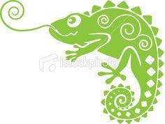 chameleon Royalty Free Stock Vector Art Illustration
