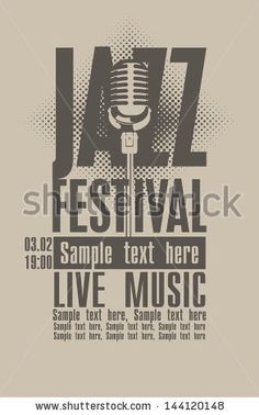 Poster for the jazz festival with a retro microphone by paseven, via Shutterstock