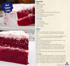 The latest craze is Red Velvet Cake and now you can bake it in the comfort of your own home! Bakery Recipes, Dessert Recipes, Stork Recipes, Red Wine Chocolate Cake, Rum Cake, Velvet Cake, Red Velvet, Cake Decorating Tips, Cake Cookies