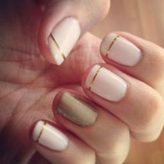 nail polish with gold tape - Google-søk