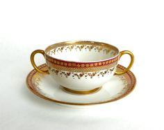 Antique Limoges Porcelain Broth Bouillon by RosaMeyerCollection
