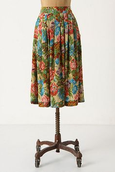 Embroidery Pattern Skirt #anthropologie by Postella size M