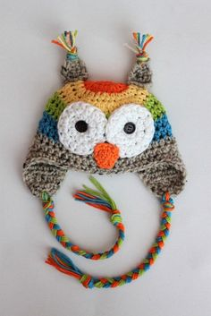 I need to make this hat in these colors for a little one I know!