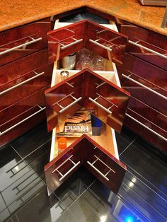 Not Your Typical Lazy Susan - 20 Smart Kitchen Storage Ideas on HGTV