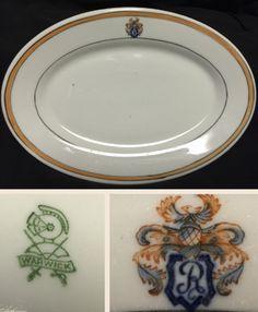 "Warwick China 9 1/4"" platter.  Backstamp dates circa 1920s - 1930s."
