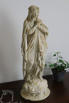 アンティーク マリア像 French antique statue of Virgin Mary ¥ 34,500yen