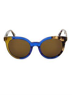 50664deb5167 Fendi Tri-colour round-framed sunglasses Sunglasses Women Designer