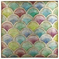Scalloped Jewels Art. Reminds me of the Rainbow Fish book!