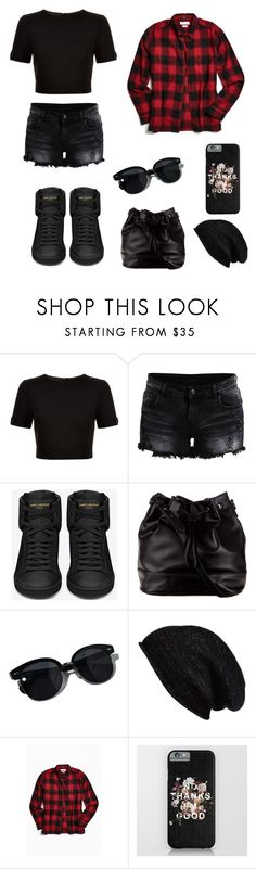 """""""Dauntless Outfit #7"""" by yourneighborchu ❤ liked on Polyvore featuring Ted Baker, Vila Milano, Yves Saint Laurent, ZALORA, Oliver Peoples, Halogen and Urban Outfitters"""