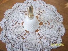 Avon collectible,  milk glass bell.....$10.