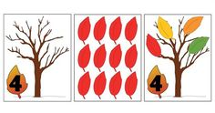 Colored Version of the Fall Leaf Counting Activity