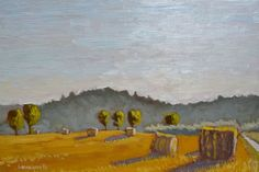 Buy Hay Bales Below Porchiano del Monte in Umbria Italy Italian Plein Air Landscape Painting, Oil painting by Caridad I. Barragan on Artfinder. Discover thousands of other original paintings, prints, sculptures and photography from independent artists.